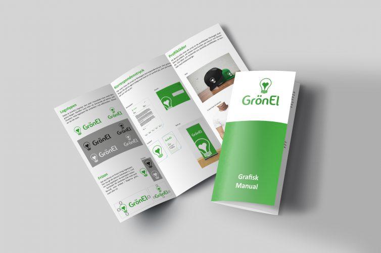 Profilprogram för fiktiva företaget grön el.